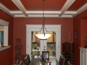 red ceiling and wall painting kettering ohio