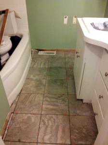 bathroom painting before