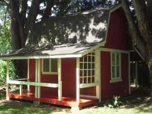 painting red shed