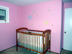 baby pink room painting kettering ohio