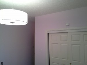pink girls room after painting