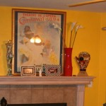 yellow interior fireplace kettering ohio