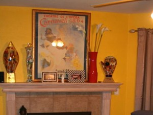 yellow interior fireplace kettering ohio