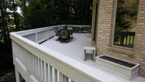 deck staining deck